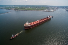 American Fortitude departure - Oswego Harbor