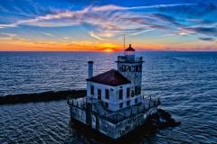 Oswego Lighthouse Sunset