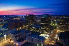 Downtown Syracuse Sunset