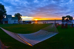 Hammock sunset on the St. Lawrence river